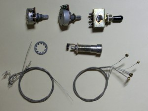 エレキギターの修理パーツ