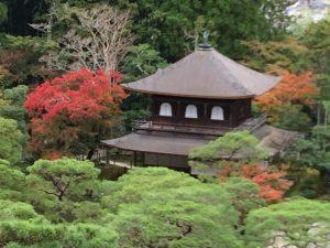 銀閣寺と紅葉